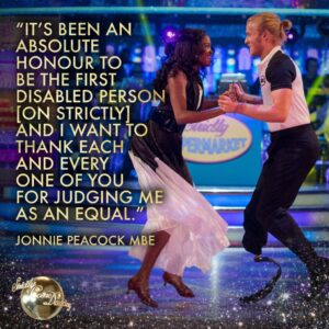Jonnie Strictly out